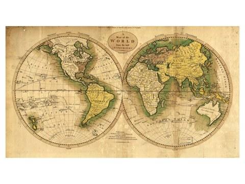 Cartes du monde ancienne