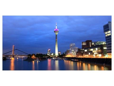 Poster du skyline de Düsseldorf