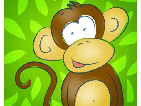 Image chambre d'enfant singe