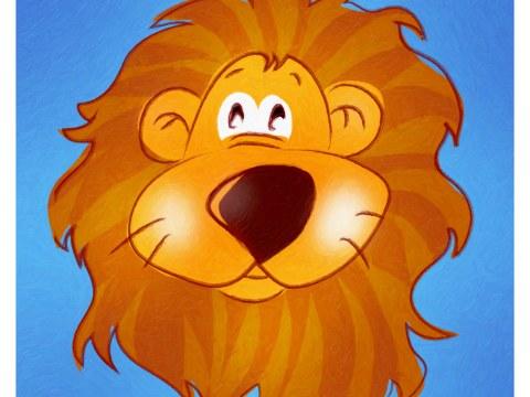 Image chambre d'enfant lion