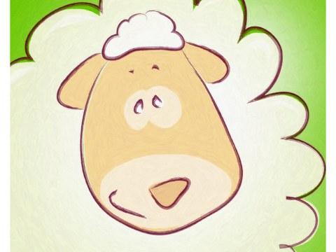 Image chambre d'enfant mouton