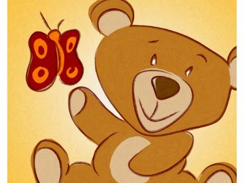 Image chambre d'enfant ours en peluche