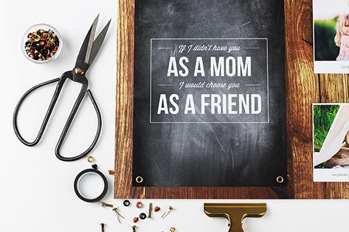 Muttertagsgeschenk Design-Volage und Memoboard scrapbooking_01