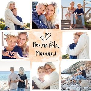 montage photo fête des mères / modèle 3 à télécharger gratuitement / myposter