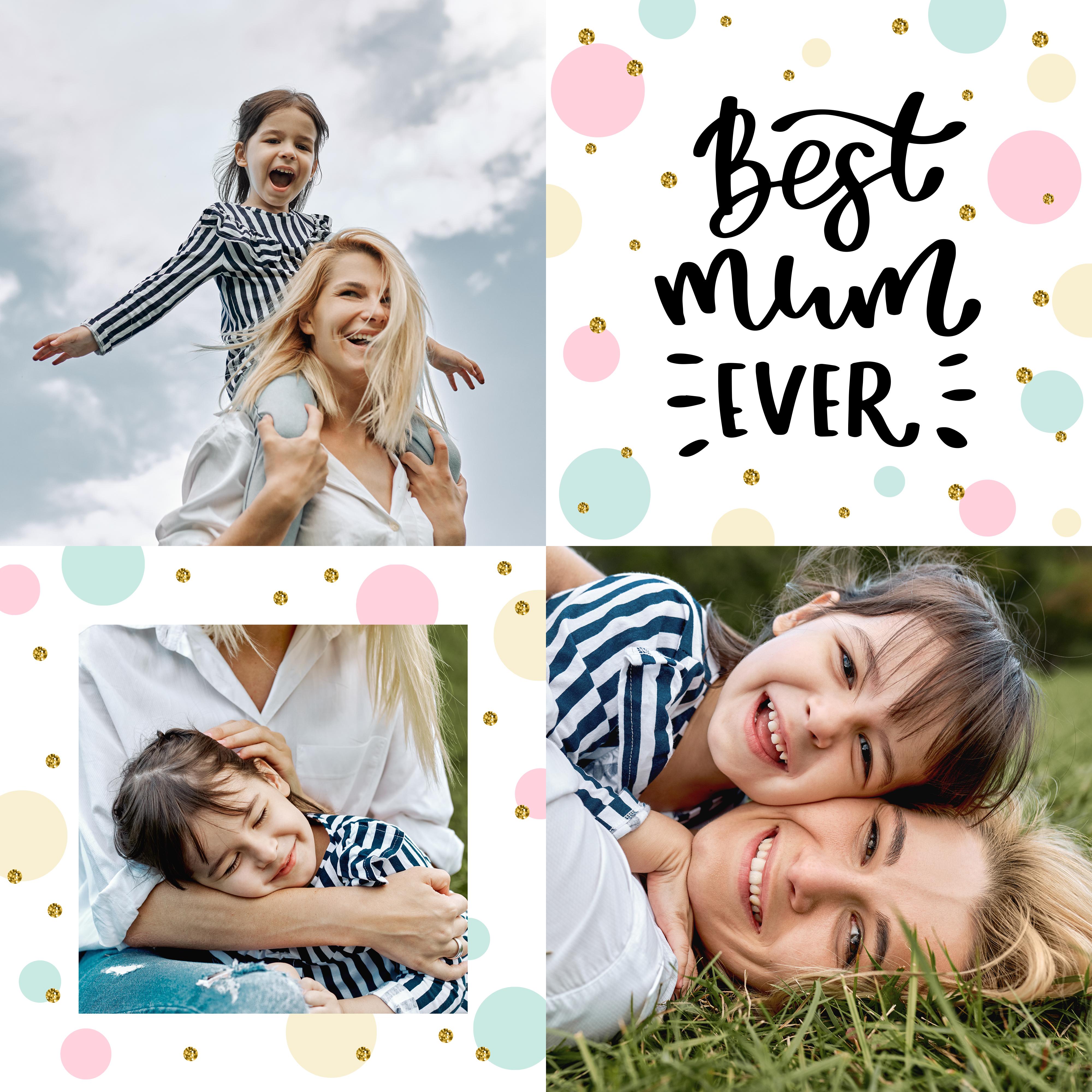 Modèle 2 montage photo gratuit fête des mères / myposter