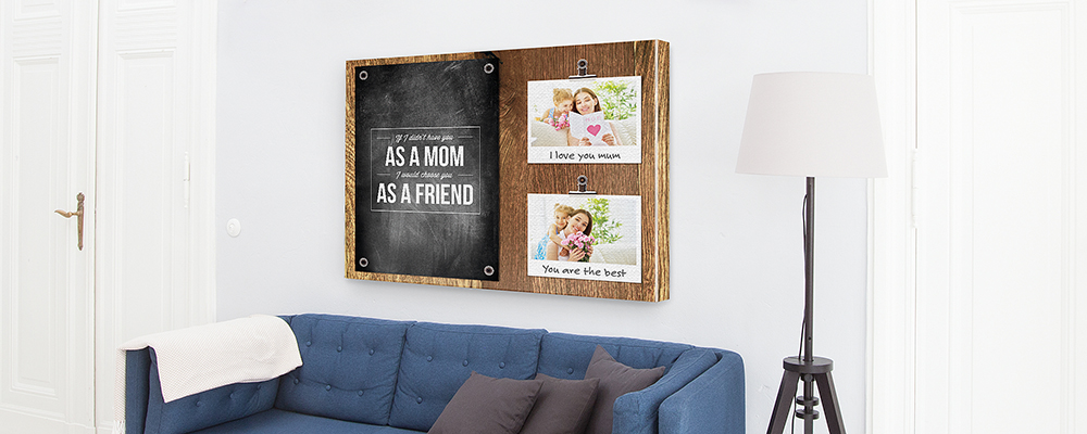 f te des m res p le m le montage photo toile. Black Bedroom Furniture Sets. Home Design Ideas