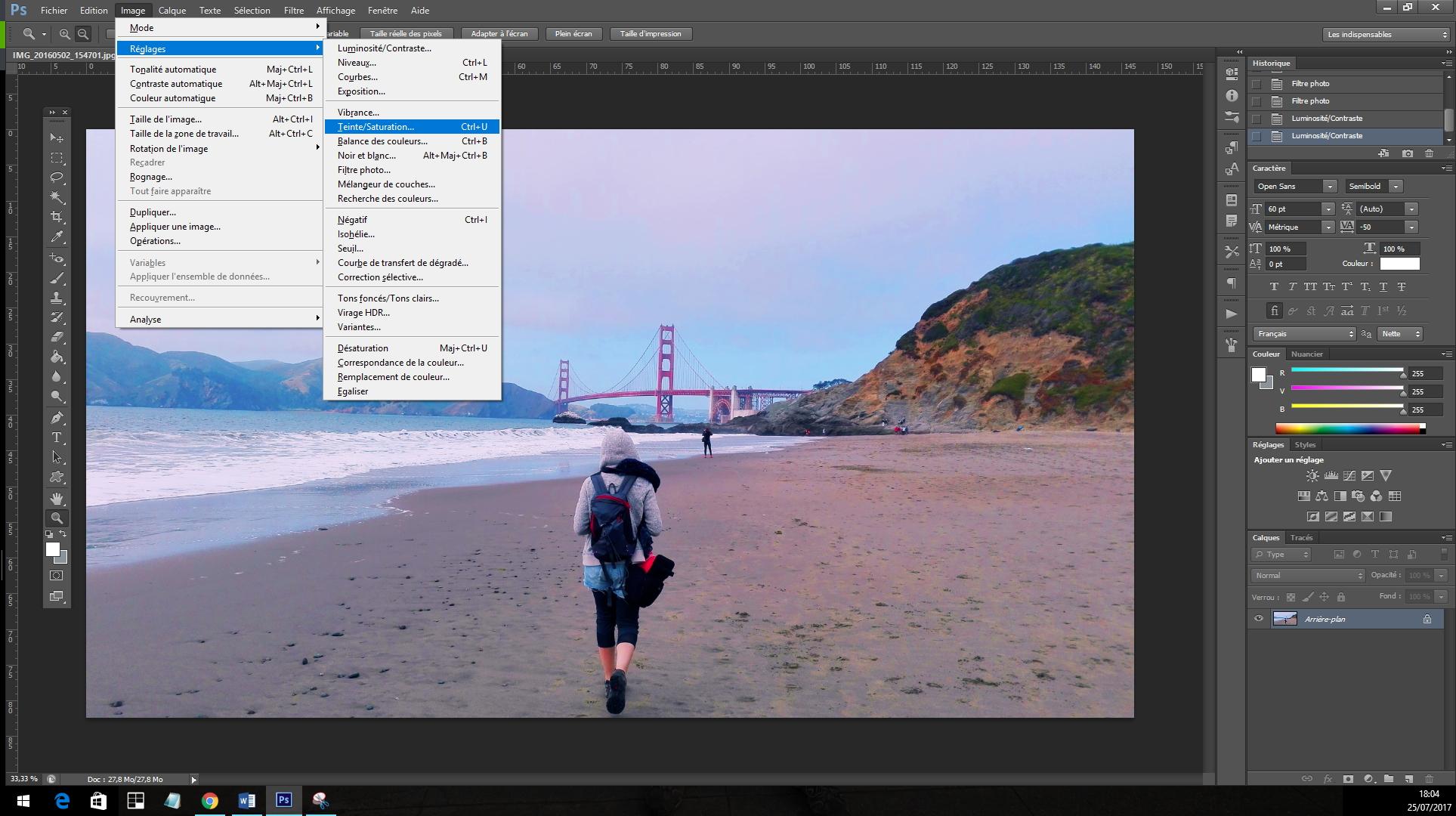 Retouche développement image Photoshop