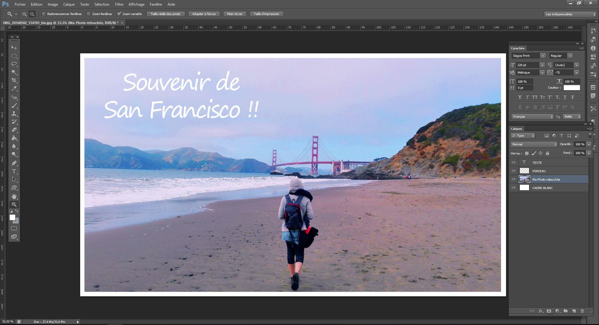 Tuto Photoshop: Ajouter cadre et texte