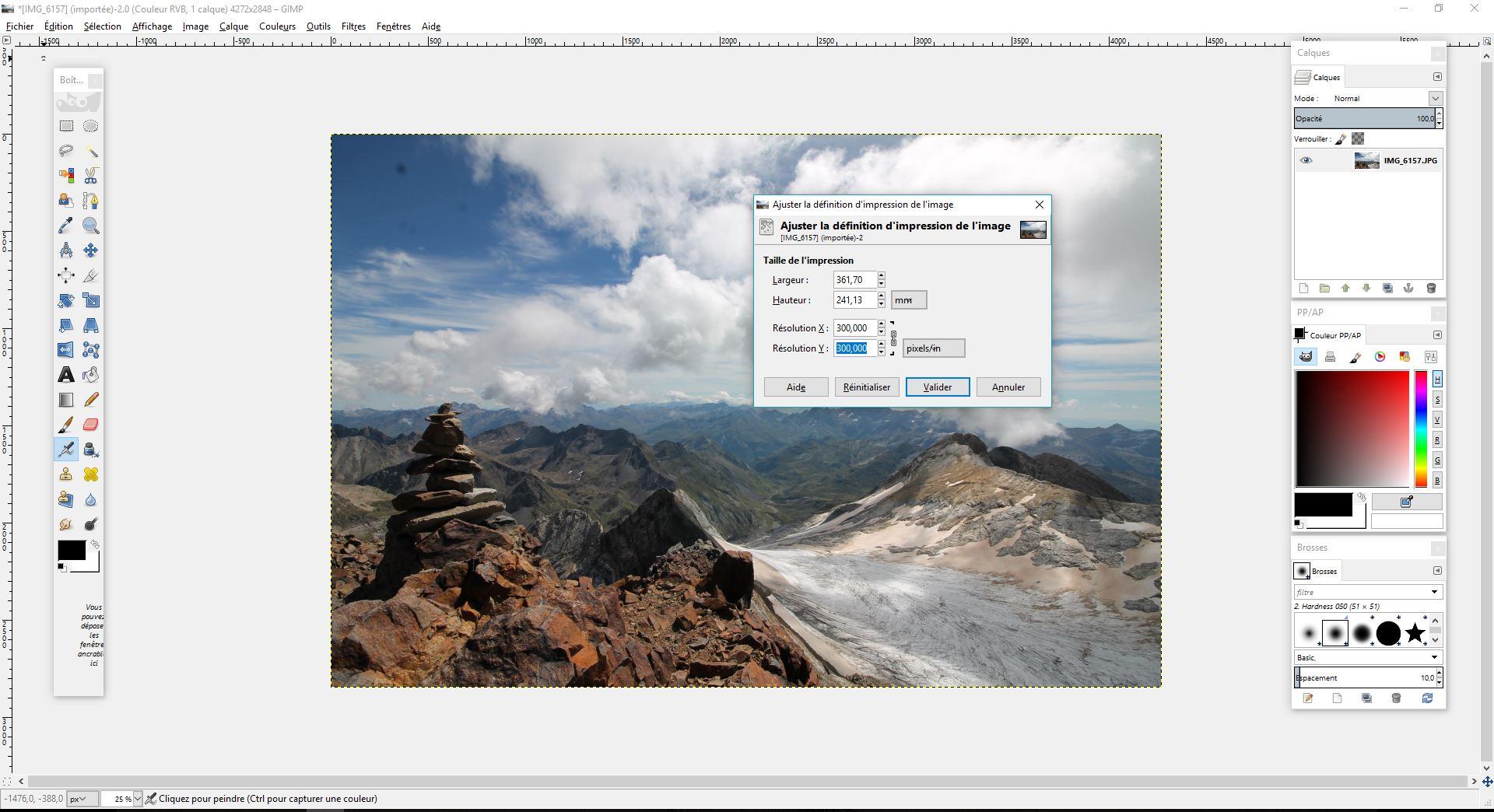 qualité image tuto GIMP
