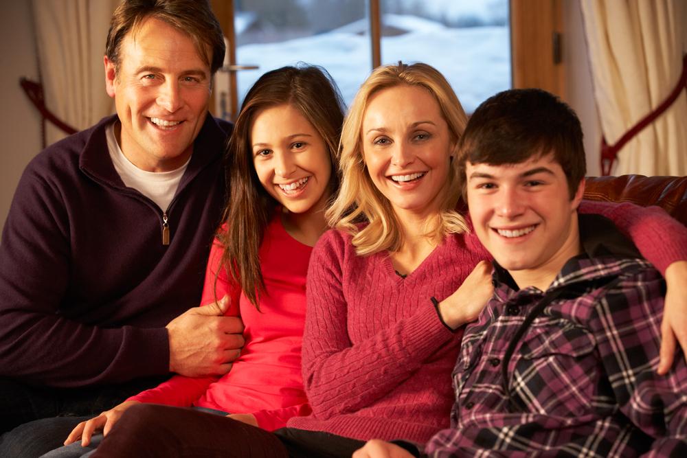 photo de famille posée