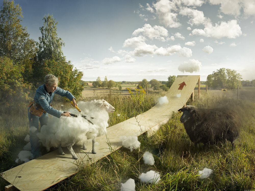 Idée photo © Erik Johansson - Cumulus & Thunder