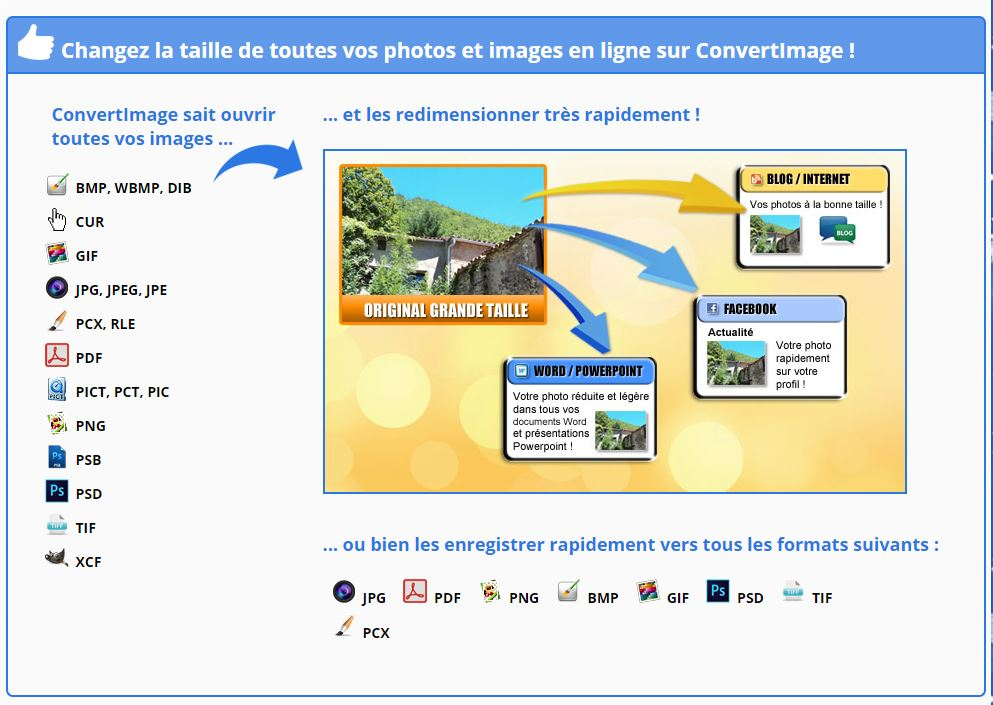 redimensionner une image configurateur ConvertImage
