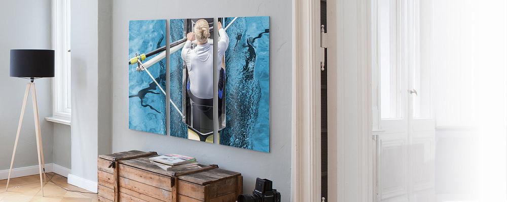 Idées déco couloir ou déco entrée - Inspiration Triptyque Toile photo - myposter