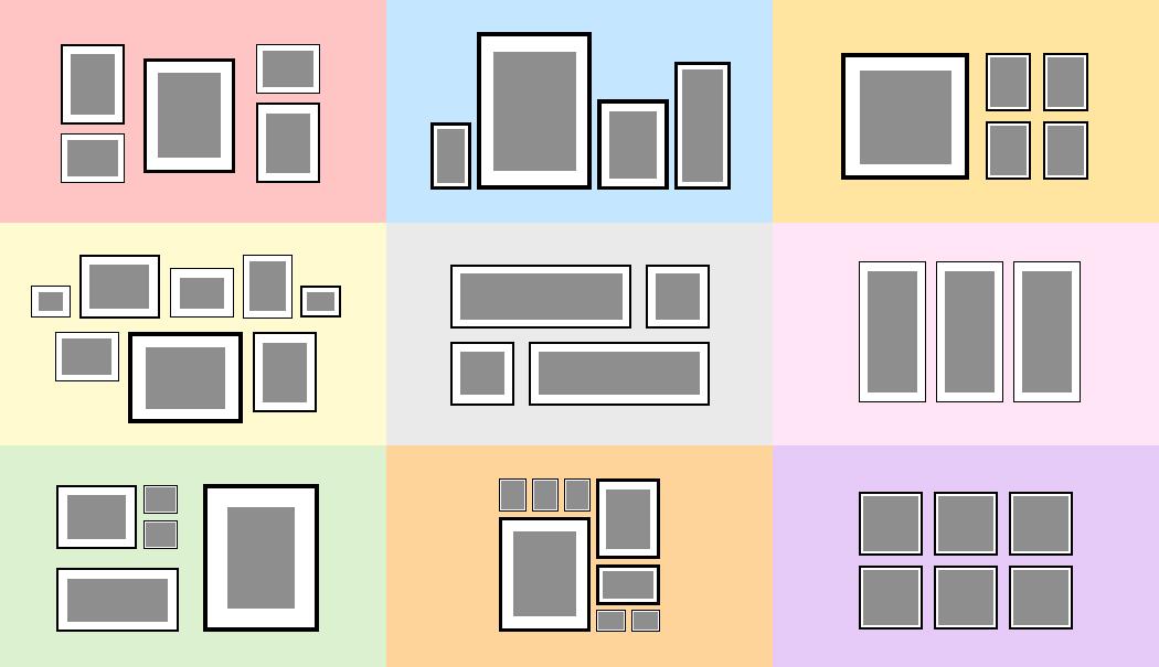 6 pièces Cadre photo cadre photo gratuitement avec ou sans cadre