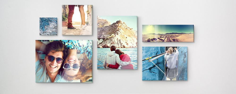 Idée déco couloir ou déco entrée - mur de photos de famille et de vacances / myposter