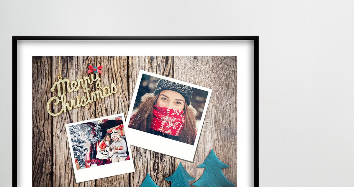 Modèles gratuits de collage photo pour Noël - exemple myposter