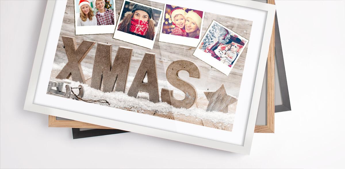 Modèles de collage photo gratuits pour Noël