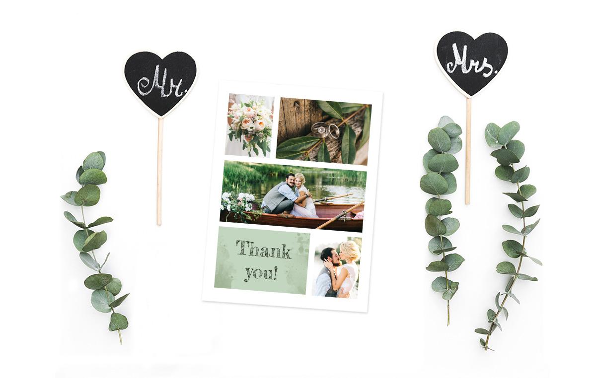 Idée de collage photo pour un faire-part de mariage / myposter