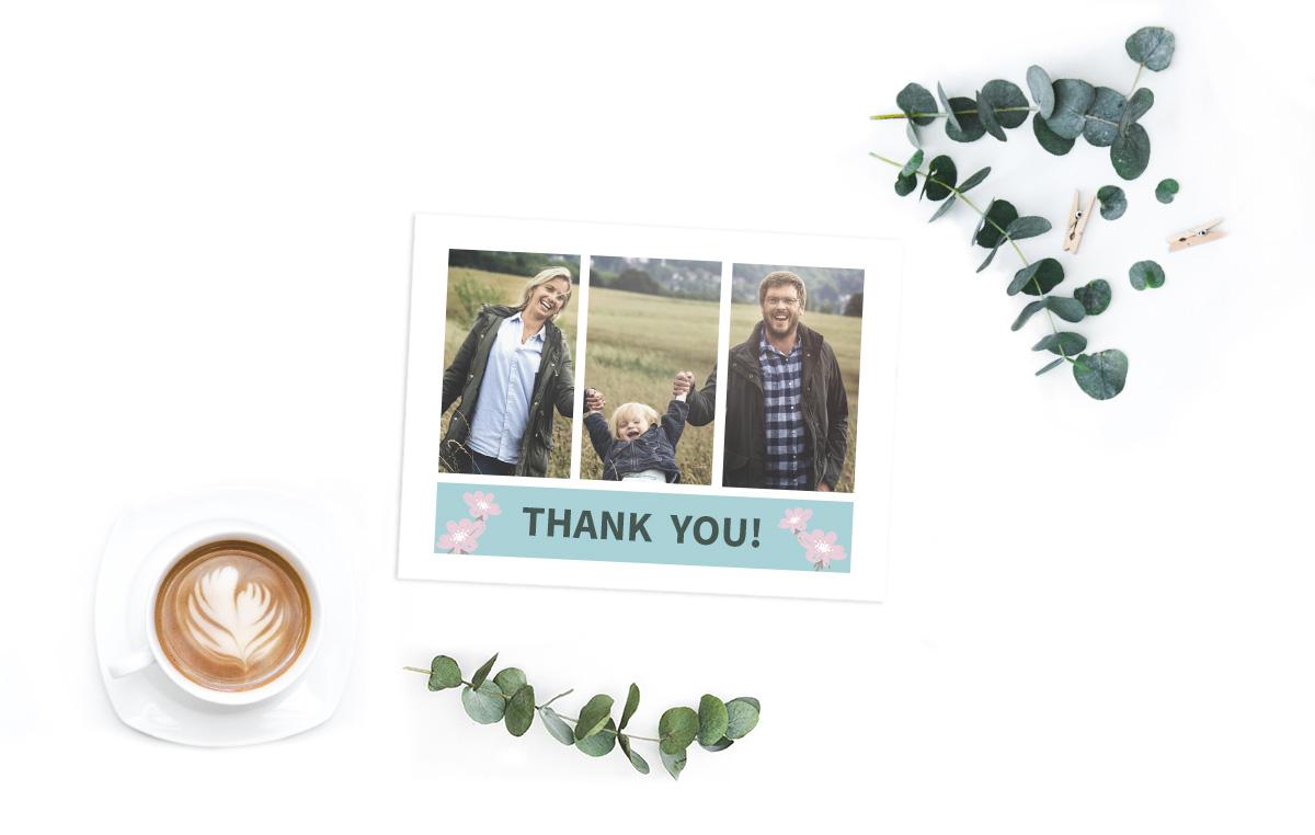 Idée de collage photo pour une carte de vœux ou carte de remerciement /myposter
