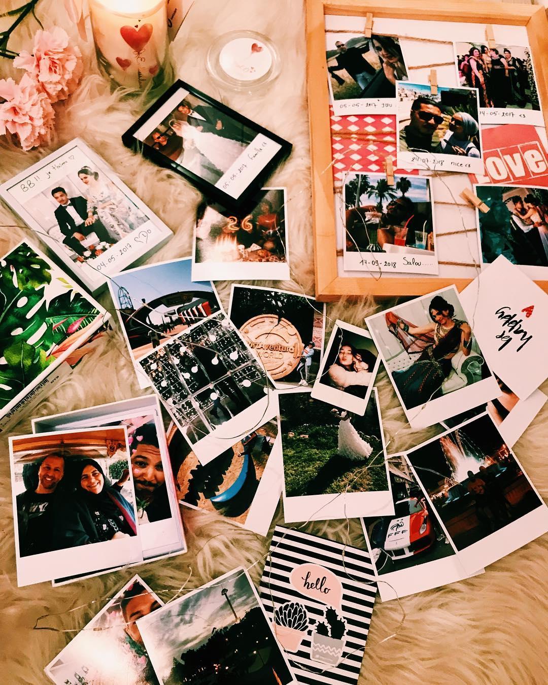 Pêle-mêle photo DIY avec une guirlande et tirages style Polaroid / @mima_beautyaddict / myposter