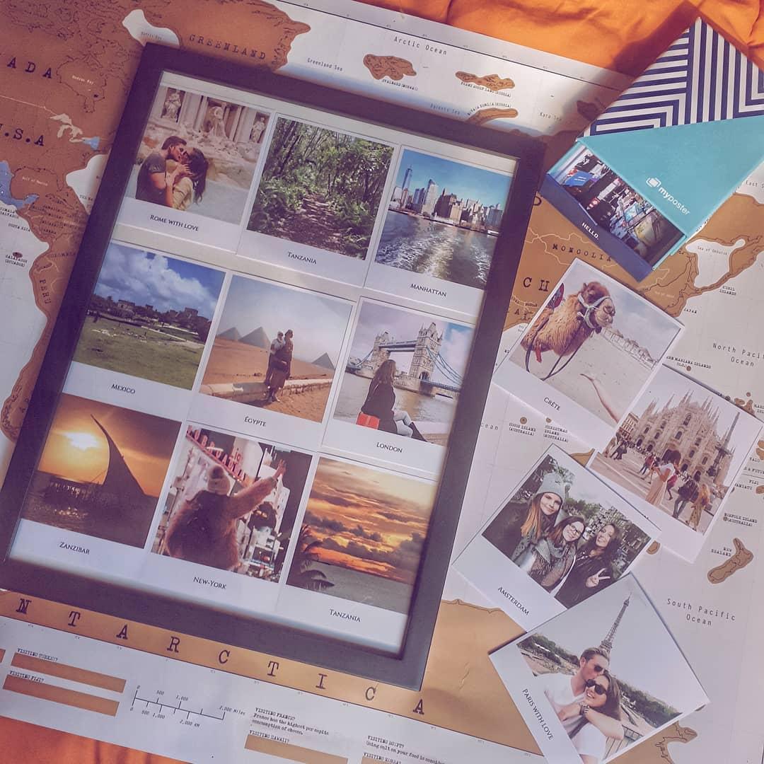 Pêle-mêle photo avec des tirages photos vintage / impression client myposter @sarah__dupont