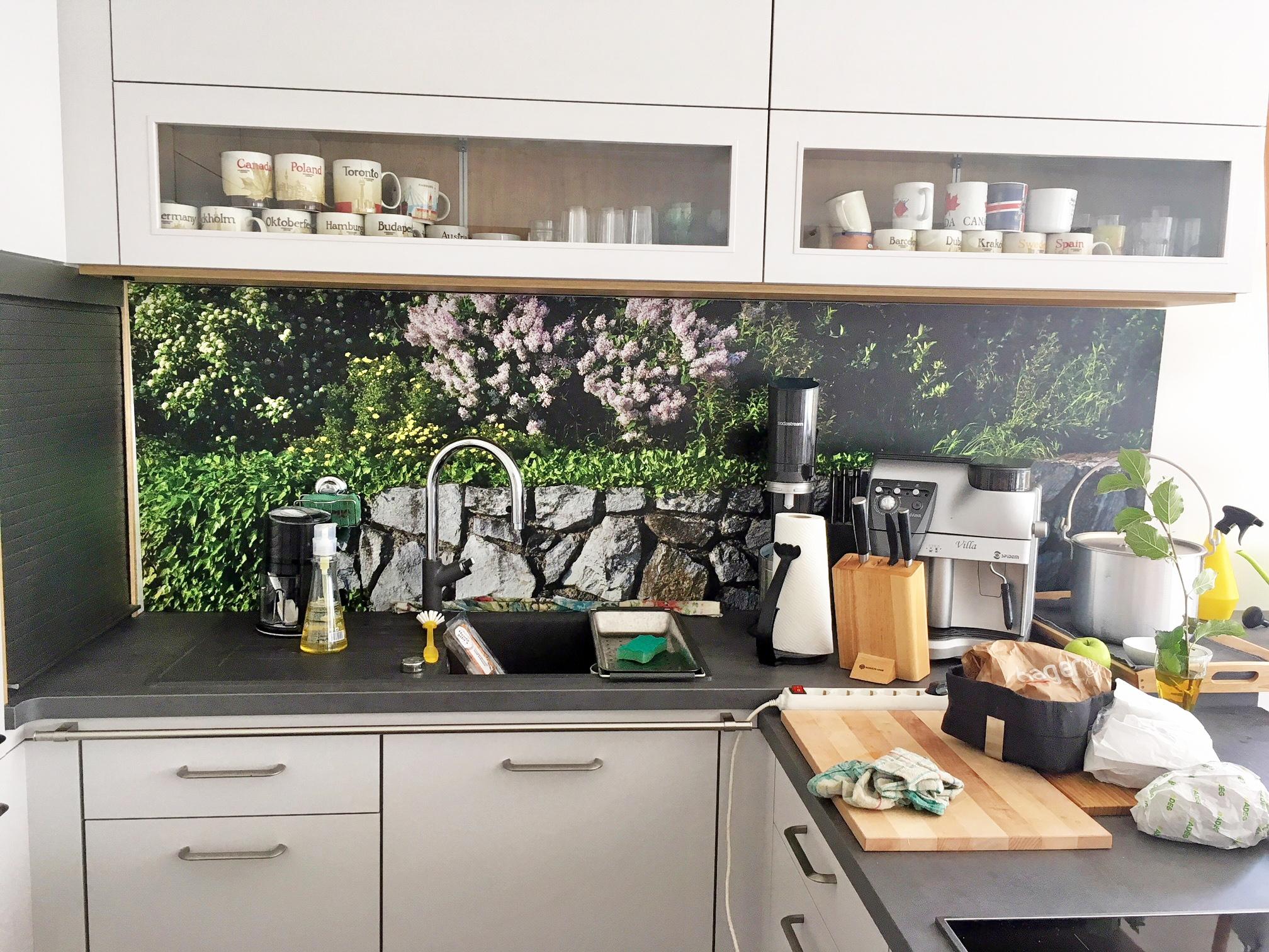 Idées de cadeaux - crédence de cuisine personnalisée sur Alu-Dibond / inspiration client de Alexandra- myposter