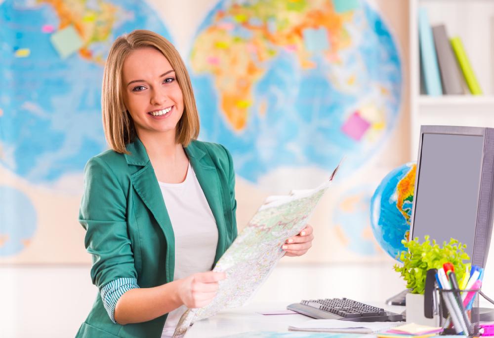 Carte du monde à imprimer - agence de voyage / myposter