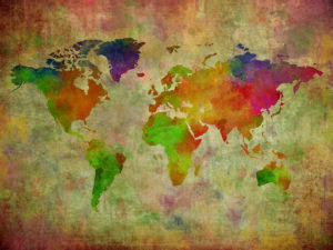 carte du monde vintage à imprimer