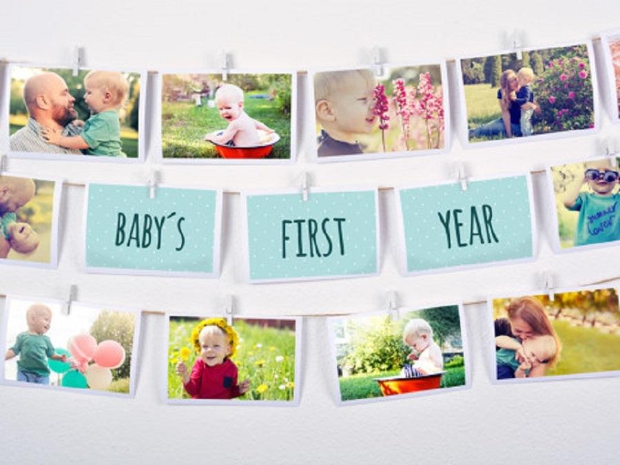 Inspiration guirlande photo chambre de bébé / myposter