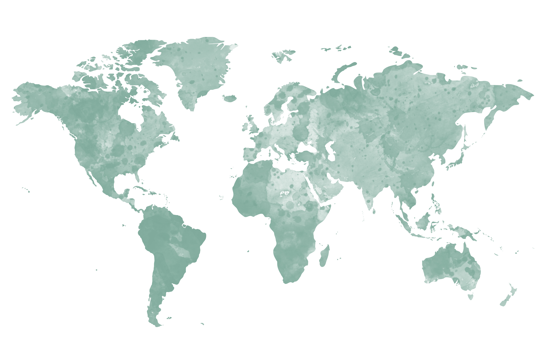 Carte du monde à épingler vert / myposter