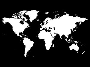 carte du monde océans noir