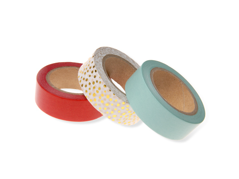 Lot de 3 rouleaux washi tape couleur