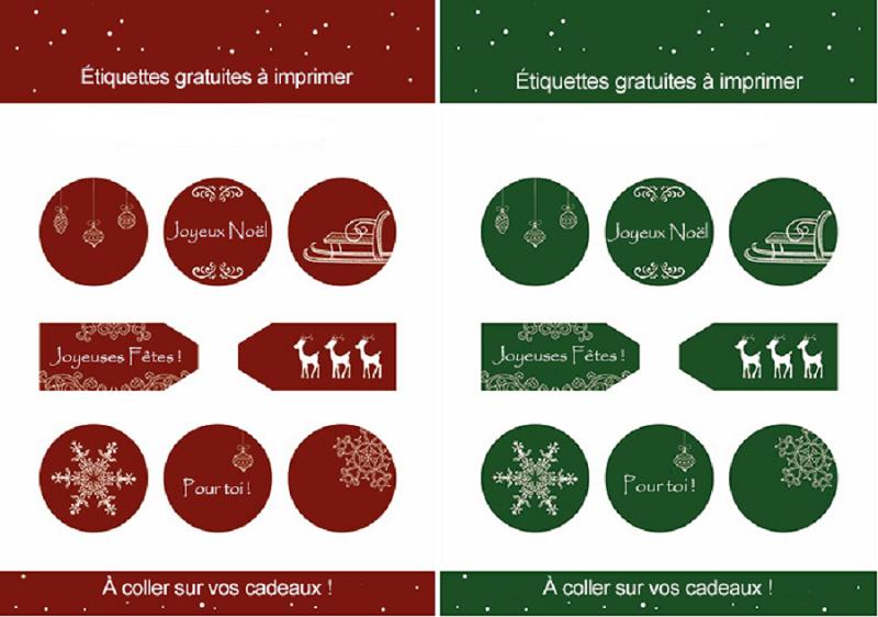 Extremement Modèles d'étiquette cadeau à imprimer gratuitement ! OF-07