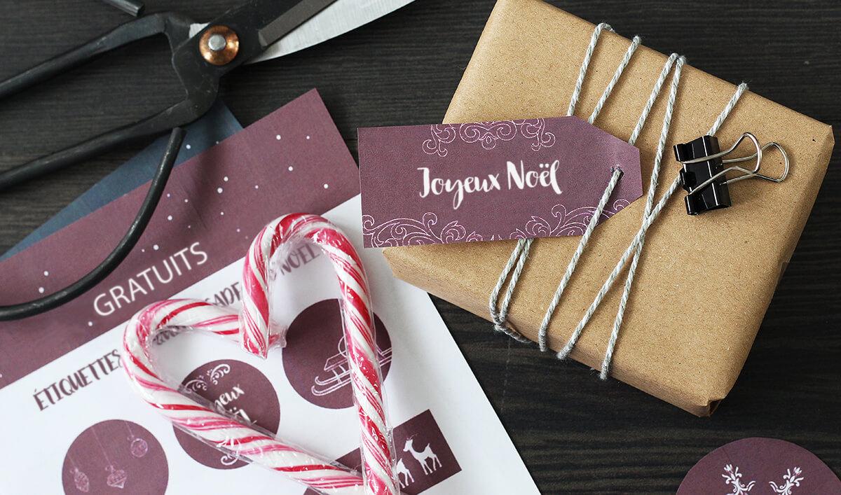Étiquettes à coller sur papier cadeau à imprimer gratuitement / modèles myposter