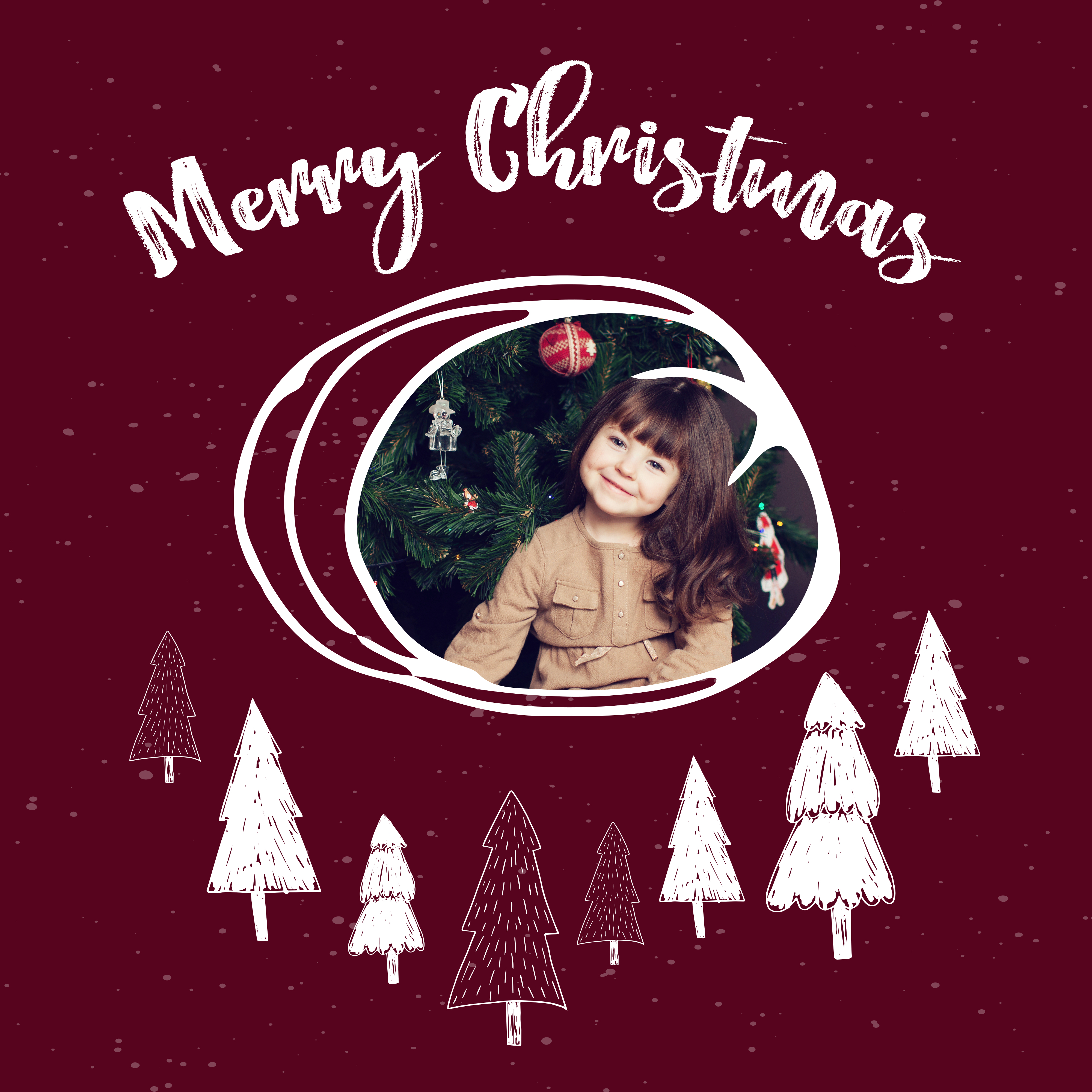 Modèle de collage photo gratuit pour Noël en rouge / myposter