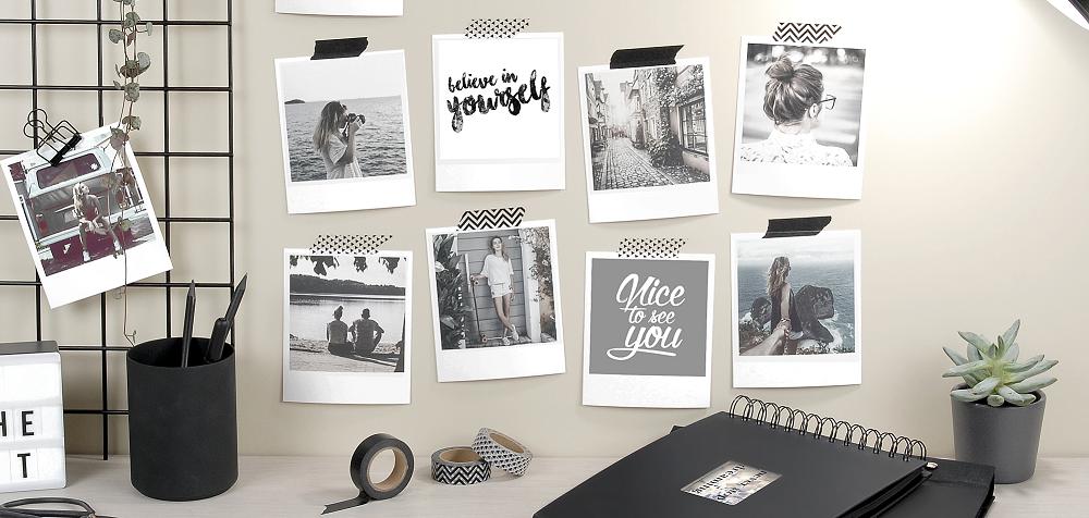 10 fa ons d accrocher ses photos sans faire de trou ou sans cadre. Black Bedroom Furniture Sets. Home Design Ideas