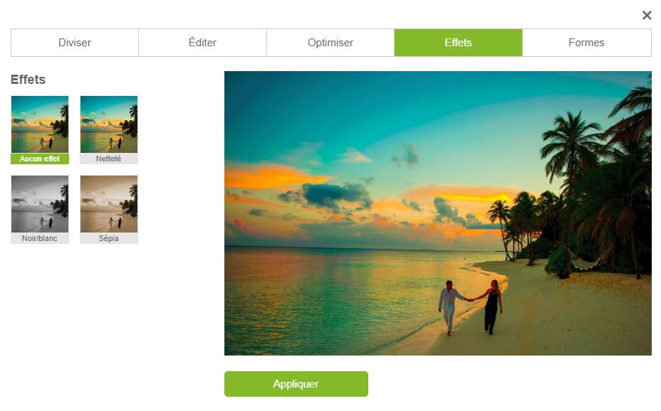 Configurateur myposter filtres photos en ligne gratuits