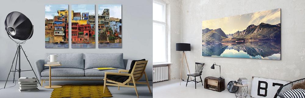 photo triptyque et photo panoramique pour décoration de salon / myposter