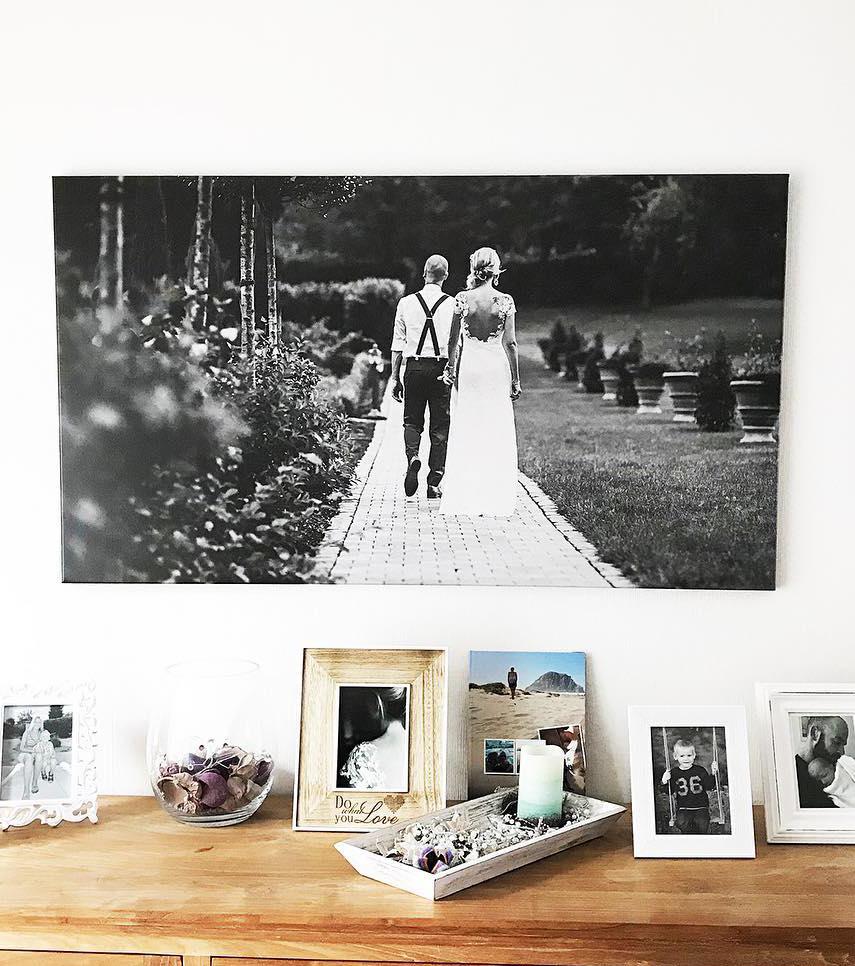 Idée cadeau personnalisé pour sa chérie / Alu-Dibond photo en noir et blanc / myposter