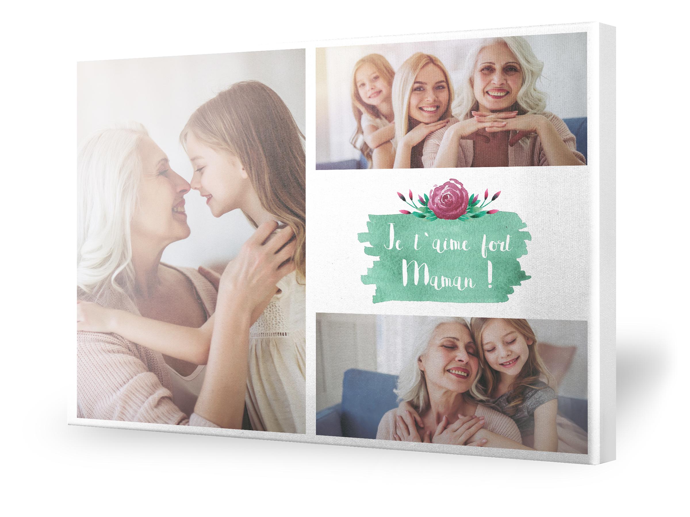 Idée cadeau personnalisé maman collage