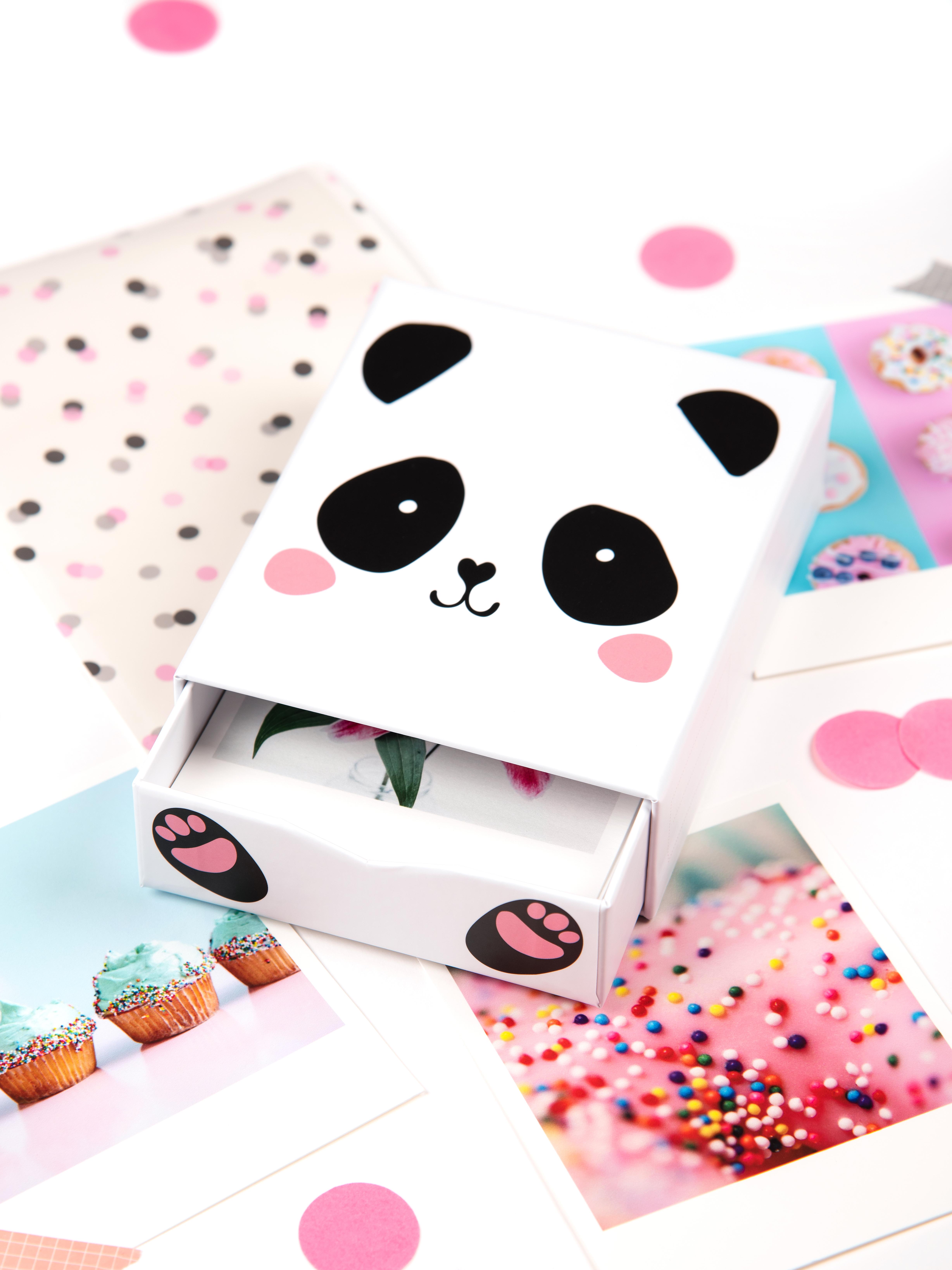 Idée cadeau pour enfant / box photos panda / myposter
